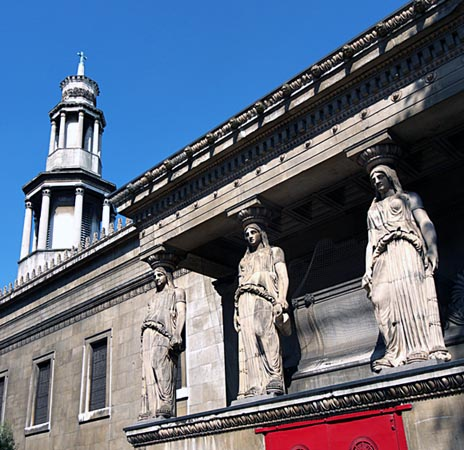caryatids and tower