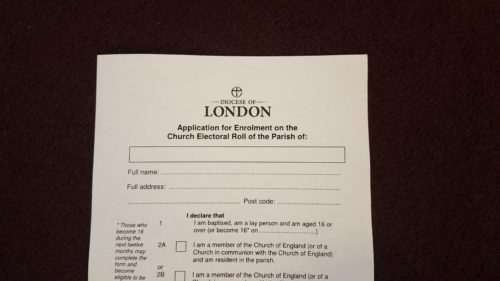 Electoral Roll Revision — St Pancras Church London